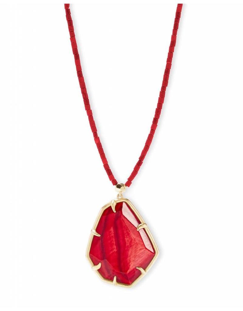 Kendra Scott Kendra Scott Beatrix Necklace in Gold Red MOP