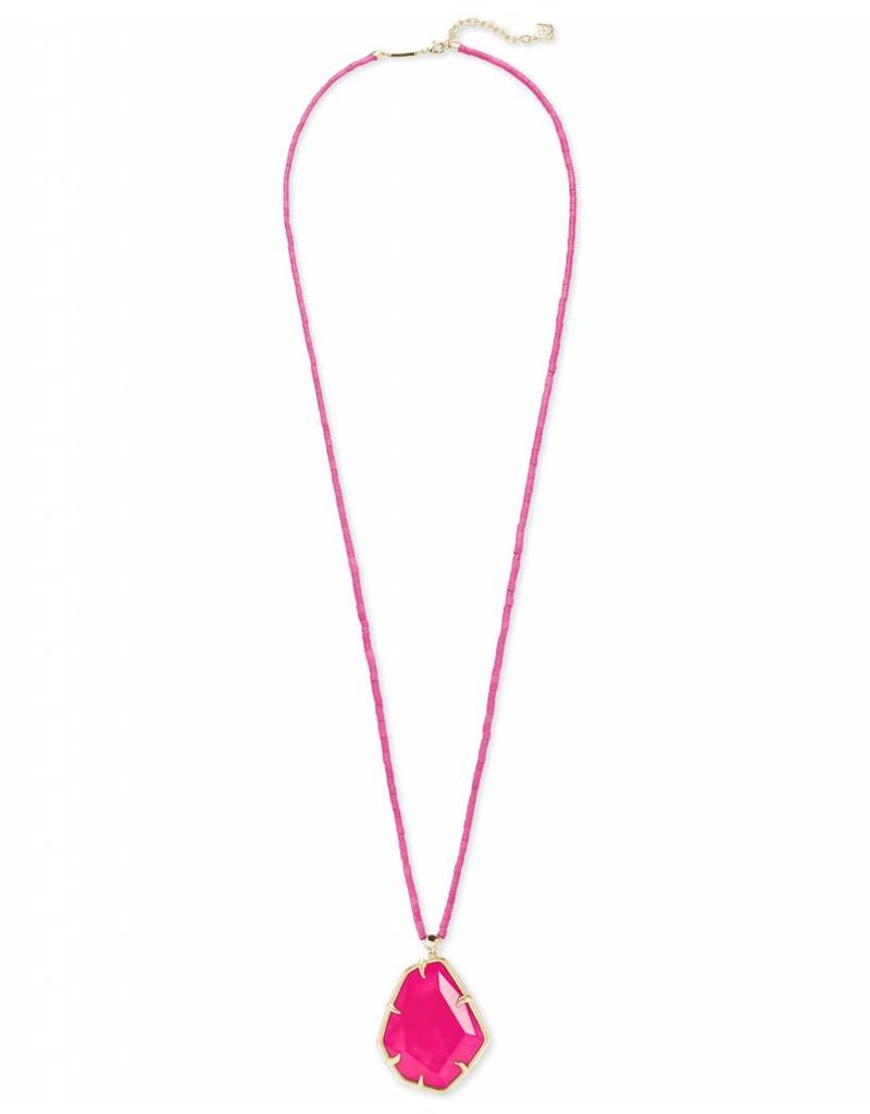 Kendra Scott Kendra Scott Beatrix Necklace in Gold Pink Unbanded Agate