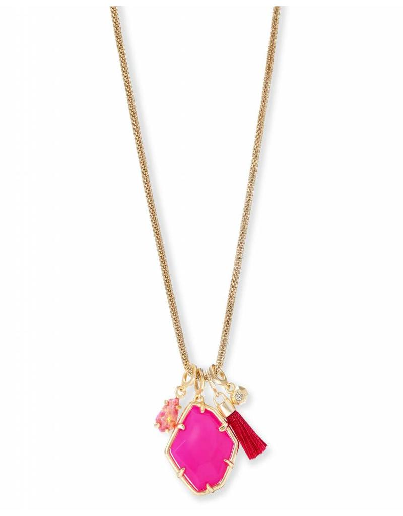 Kendra Scott Kendra Scott Hailey Necklace in Pink Unbanded Agate