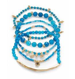 Kendra Scott Supak Bracelets in Gold Aqua Mix