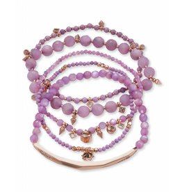 Kendra Scott Supak Bracelets in Rose Gold Lilac Mix
