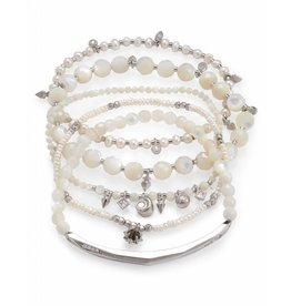 Kendra Scott Kendra Scott Supak Bracelets in Silver Ivory Mix