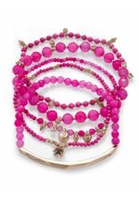 Kendra Scott Kendra Scott Supak Bracelets in Gold Pink Mix