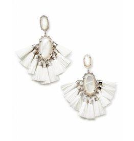 Kendra Scott Kristen Earrings in Silver Ivory MOP
