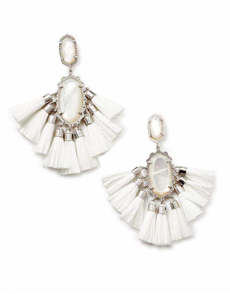 Kendra Scott Kendra Scott Kristen Earrings in Silver Ivory MOP