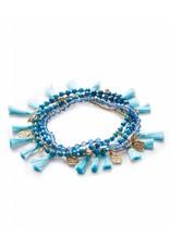 Kendra Scott Kendra Scott Julie Bracelets in Gold Aqua Mix