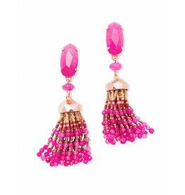 Kendra Scott Dove Earrings in Gold Pink Unbanded Agate