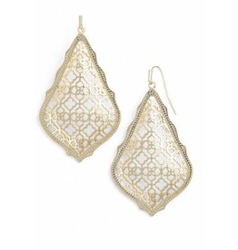 Kendra Scott Adair Earrings Gold Filigree on Gold