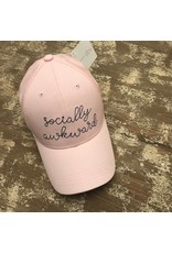 Ever Ellis Pink/Gray Embroidery Hat- Socially Awkward