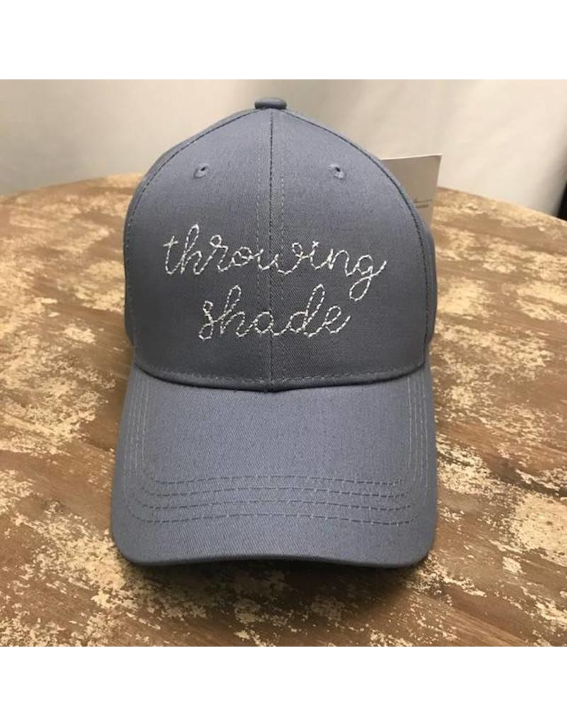 Ever Ellis Gray/White Embroidery Hat- Throwing Shade