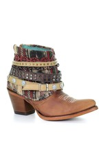 Corral Honey Studded & Woven Harness Ankle