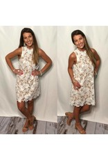 Off White Lace Dress with Nude Underlay