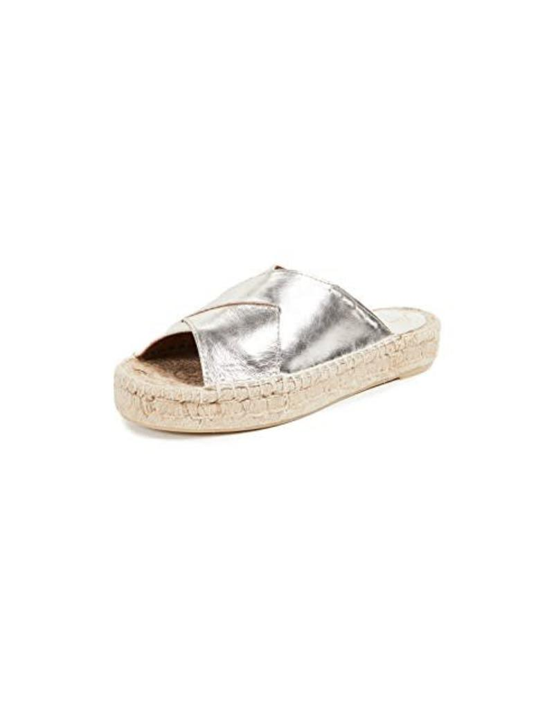 Free People Tuscan Slip on Espadrille in Silver