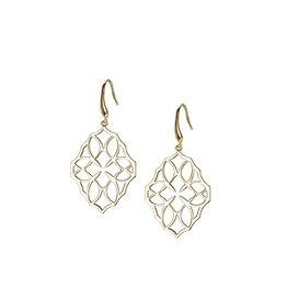 Natalie Wood Large  Gold Believer Cross Earrings