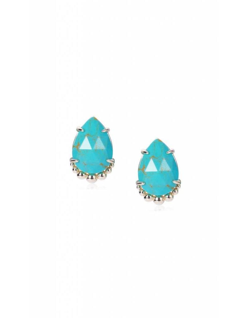 Natalie Wood Natalie Wood Turquoise Magnesite Stud Earrings
