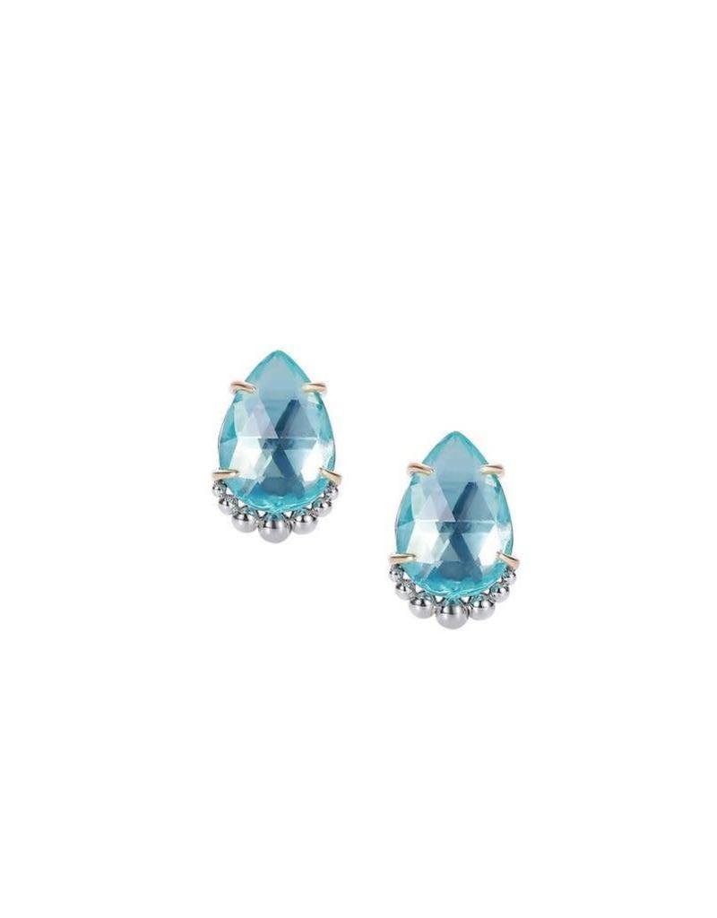 Natalie Wood Natalie Wood Blue Topaz Stud Earrings