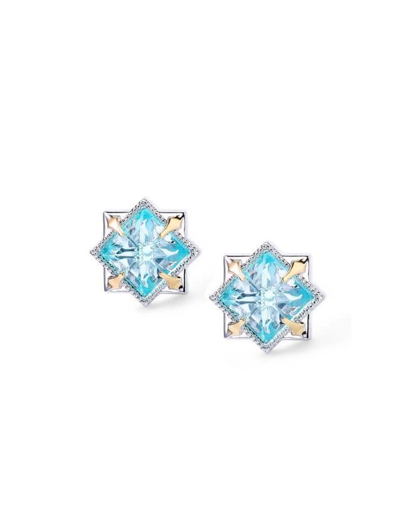 Natalie Wood Natalie Wood Blue Topaz Runaway Stud Earrings