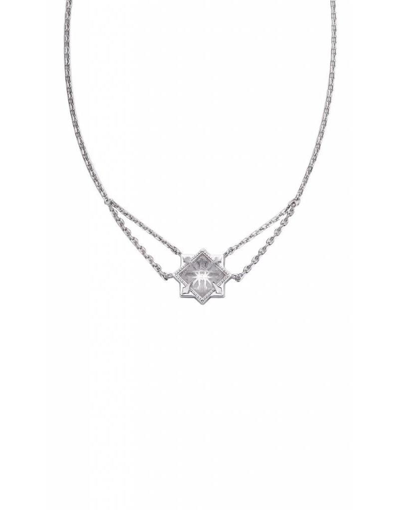 Natalie Wood Natalie Wood Silver Clear Quartz Runaway Necklace