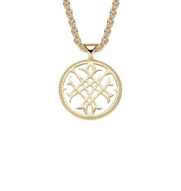 Natalie Wood Gold Logo Necklace