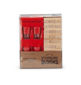 Stumbling Blocks Game & Shot Glasses