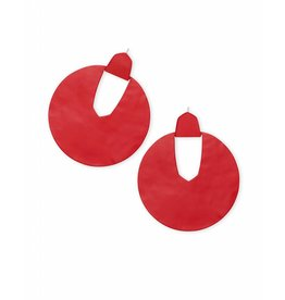 Diane Earring in Matte Bright Red
