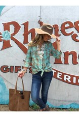 Plaid Tunic in Turquoise