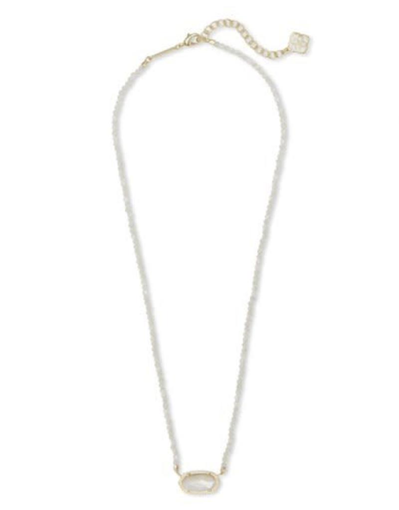 Kendra Scott Elisa Beaded Necklace Gold Ivory MOP