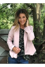 Blush Blazer with Gold Stud Detail