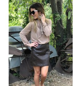 Free People Retro Brown Vegan Skirt