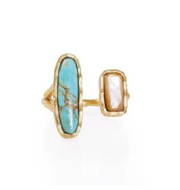 Christina Greene Deco Twin Stone Ring