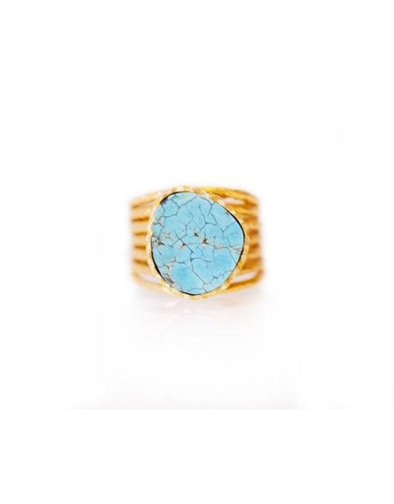 Christina Greene Stackable Ring w/Turq Stone