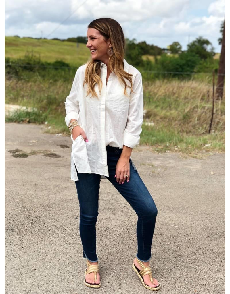White on White Long Sleeve Blouse