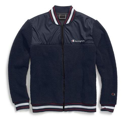 6c1cd9ed434b CHAMPION Sherpa baseball jacket - Relic Supply