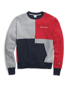 Champion CHAMPION Reverse weave color block crew with pouch