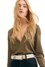 Free People FREE PEOPLE military mix henley