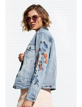 Mink Pink MINK PINK Wild flower denim jacket