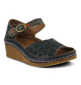 Spring Footwear Delphia Leather Ankle Strap Sandal
