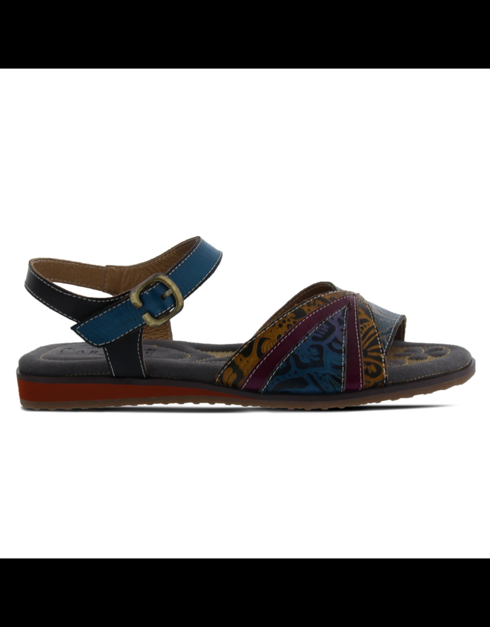 Spring Footwear Goldenite Leather Ankle Strap Sandal