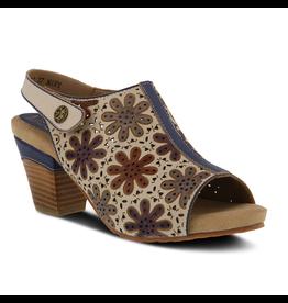 Spring Footwear Racquel Leather Slingback Sandal