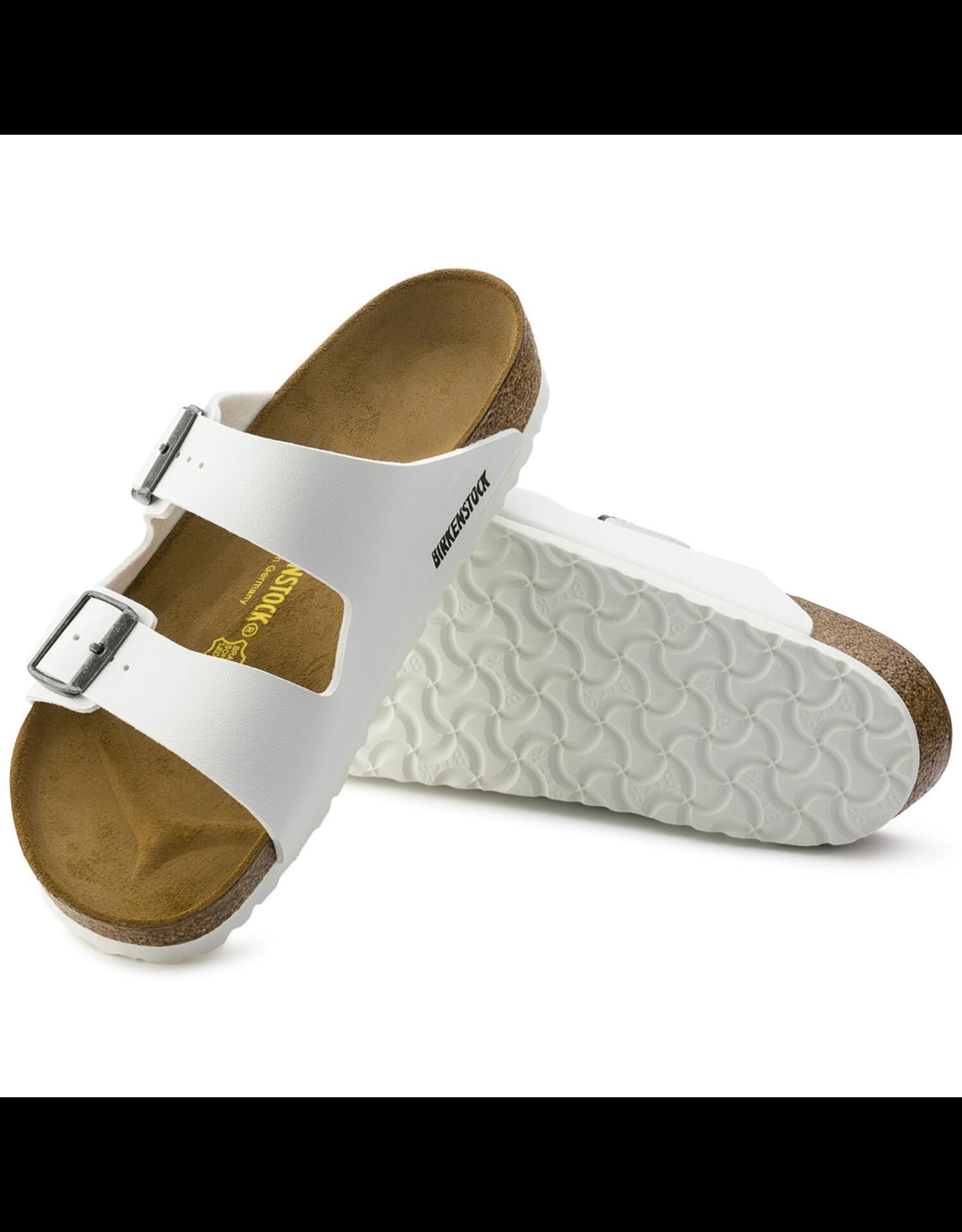 Birkenstock Arizona Sandal-White Birko-Flor