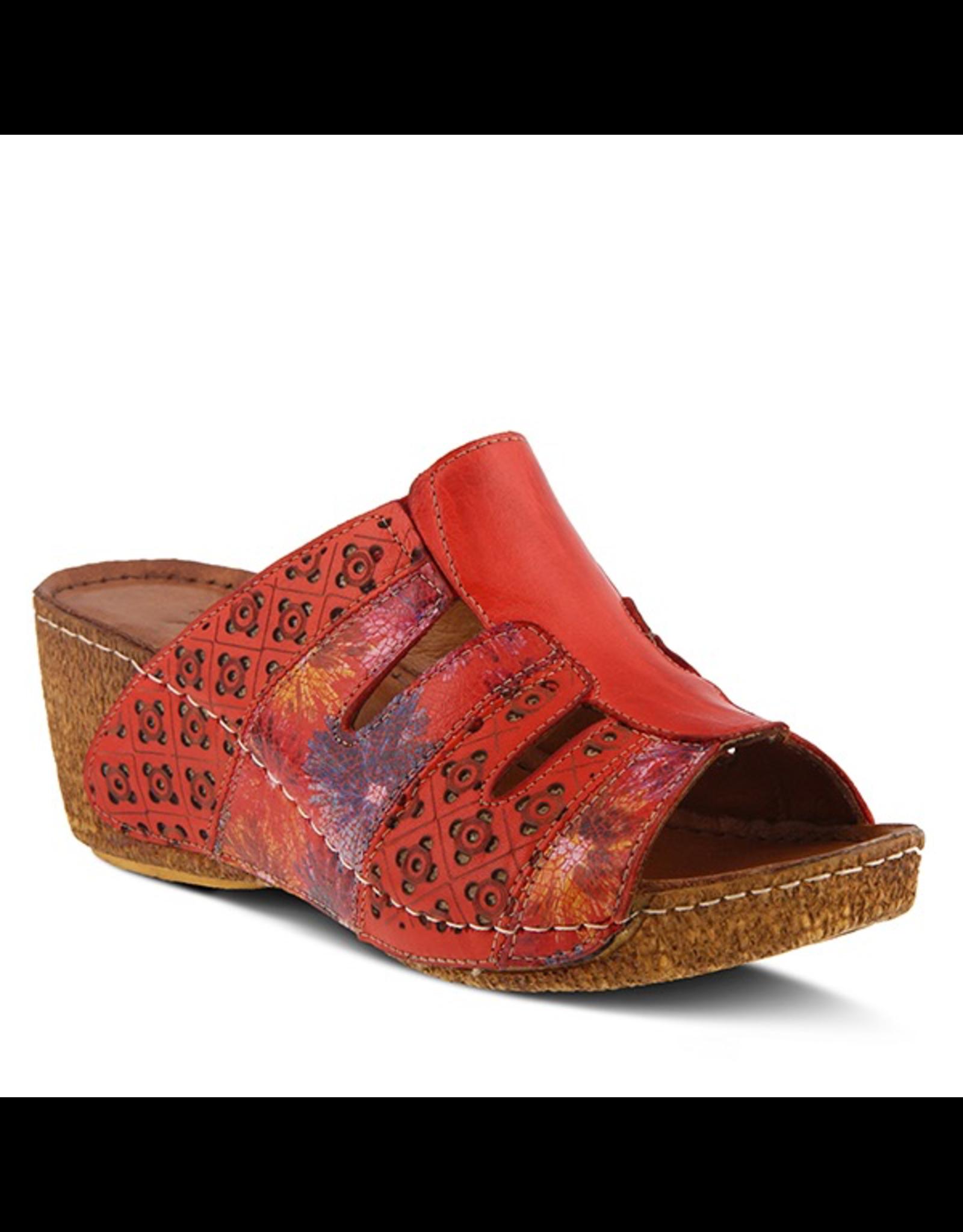 Spring Footwear Leather Wedge Sandal