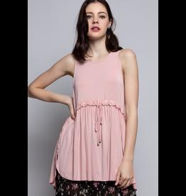 Pol Clothing Sleeveless Crochet Babydoll Tank Top