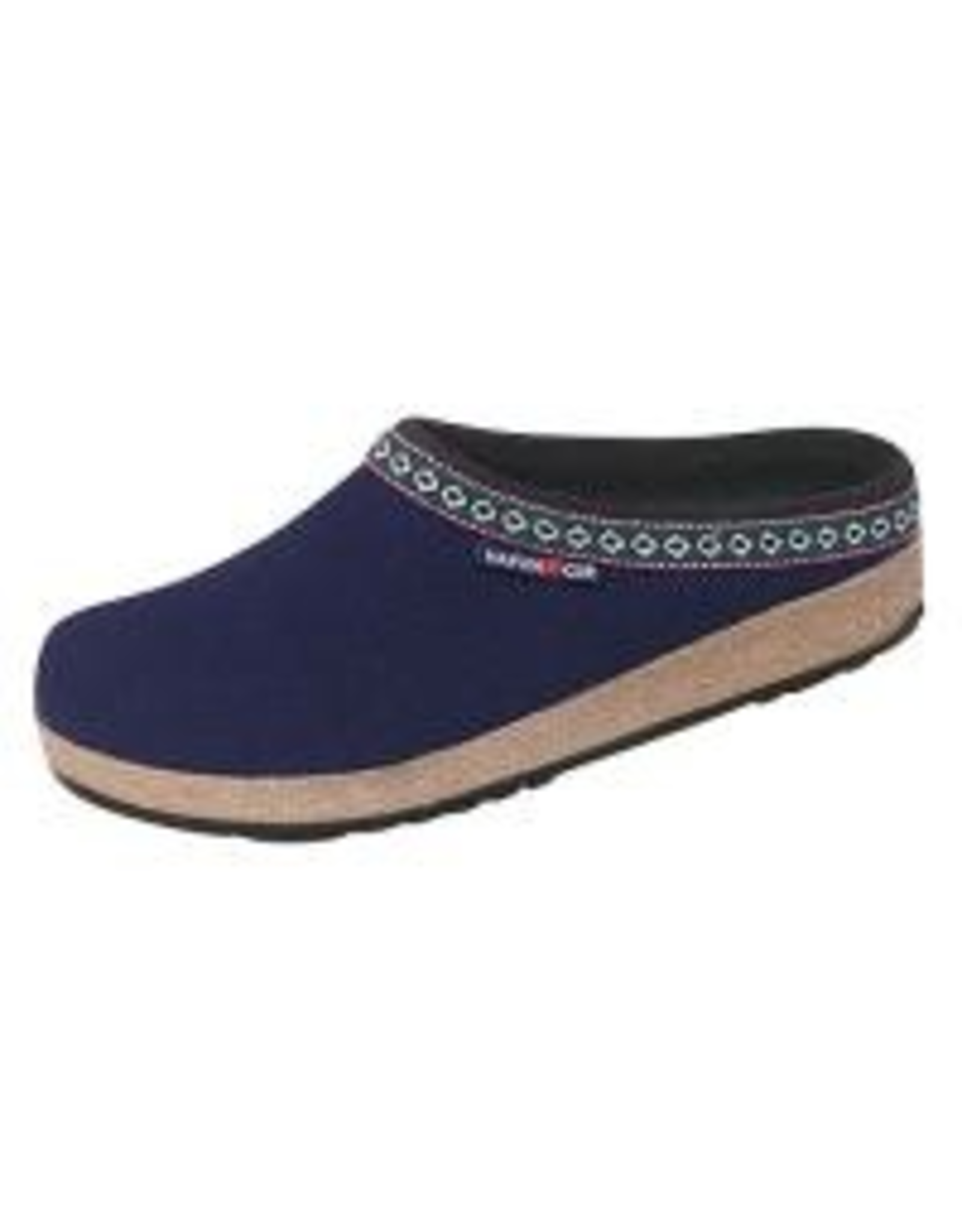 Haflinger Classic Grizzly Navy Clog
