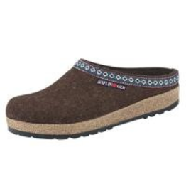 Haflinger Classic Grizzly Chocolate Clog