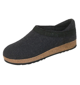 Haflinger Charcoal Closed Heel Clog