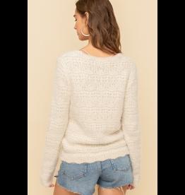 Hem & Thread Cinched Crop Sweater