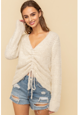 Hem & Thread Cinched Crop Sweater