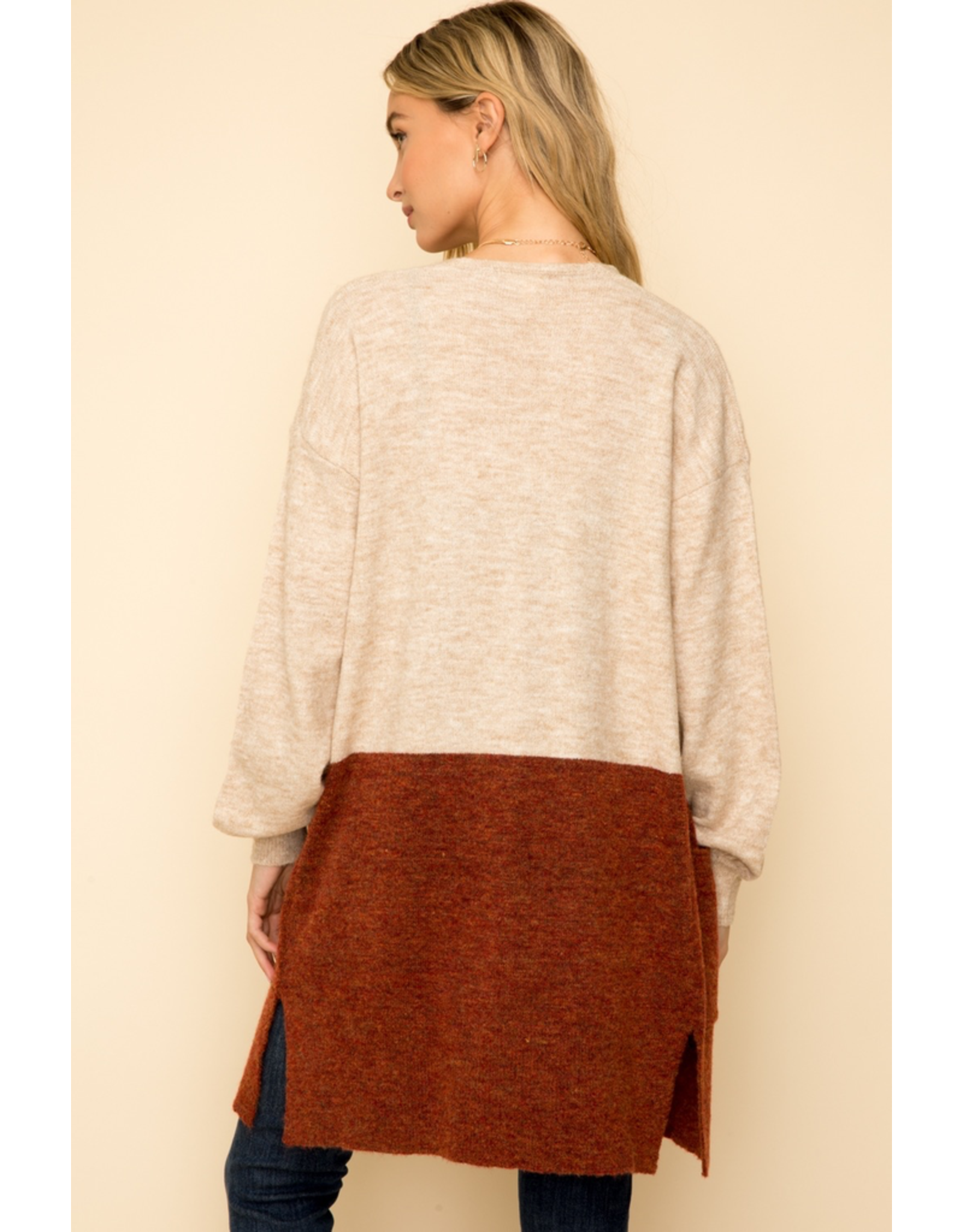 Hem & Thread Color Block Cardigan Sweater