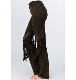 T Party Stone Design Fringe Detail Yoga Pants
