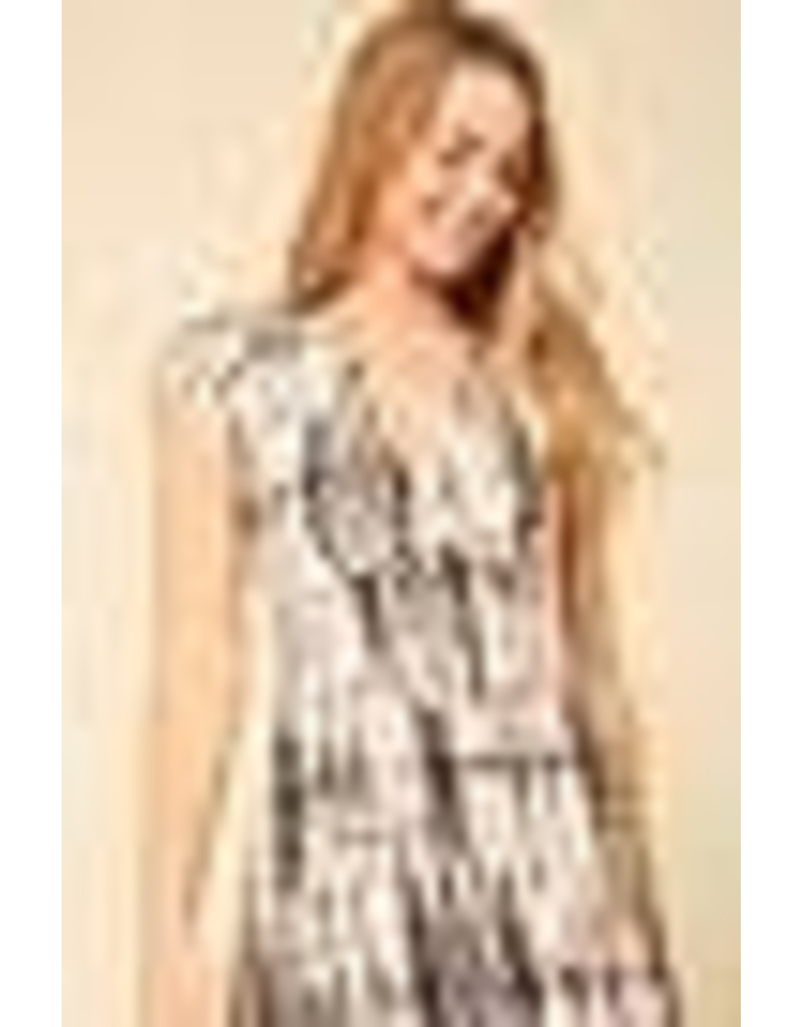Timing Short Sleeved Brushed Dress